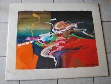 "Original Abstract Painting Acrylic on Canvas signed Jonas Gerard 37"" x 30"""
