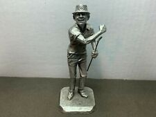 Vintage Hudson Pewter Golfer Figurine # 133 by Phillip Kraczkowski © 1972
