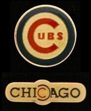 Lot/Set of 2 Chicago Cubs Baseball Pin Badge ~ MLB