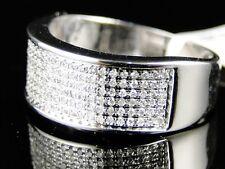 10K MENS/LADIES WHITE GOLD 8 MM WEDDING BAND REAL DIAMOND RING 1/2 CT