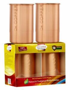 Dr.Copper Pure Copper Water Glasses 500ml Set-2