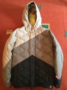 Quiksilver Candide Thovex Down Insulated Snowboard Ski Jacket Men's Small