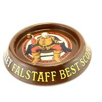 Vintage Tetley Falstaff Best Scotch Beer Advertising Tin Ashtray Man Cave Bar