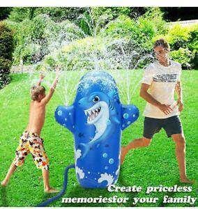 Jouet D'arrosage 2 en 1 pulvérisateur et jouet à boxer requin jeux extérieur