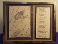 1934 Framed WILLY POGANY Poem Book The ELF & the DORMOUSE Illustration w Poem