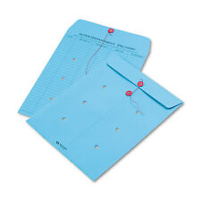 Quality Park Colored Paper String & Button Interoffice Envelope 10 x 13 Blue 100