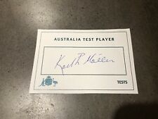 New listing Keith Miller Rare White Australian Test Player Card Hand Signed With COA