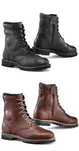 TCX HERO Waterproof Vintage Leather Motorcycle Cruiser Ankle Shoes/Boots