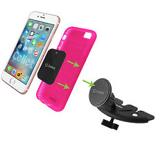 Car Cradle Mount Holder for Cell Phone Apple iPhone 5 6 7 Plus CD Magnet Bracket