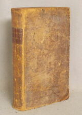 Rare 1826 NEW ENGLAND'S MEMORIAL by Nathaniel Morton FOLDING MAP Leather Bound