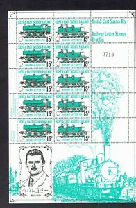 GB railways Kent and East Sussex 15p sheet of10 UHM