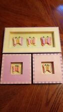 Home Interiors Kids - Flower Garden Butterfly Shadow Box Picture Plaque-pink etc