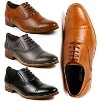 Metrocharm MC602 Men's Lace Up Cap Toe Fashion Classic Dress shoe