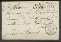 1830 Lettre Cursive 60 Aubervilliers LA VILLETTE + P60P LA VILLETTE RRR X2466