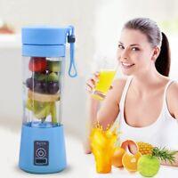 500ml USB Rechargeable Juicer Bottle Cup Juice Citrus Blender Lemon Vegetab T1P2