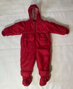 Tommy Hilfiger Red  Snow Suit Toddler 18-24 Months FLAW- Please Read