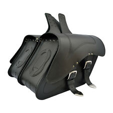 MOTORCYCLE LEATHER SADDLEBAGS PANNIERS HARLEY DAVIDSON SOFTAIL FATBOY DYNA C29A