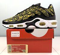 $160 Nike Air Max Plus Running Shoes Black Yellow White CT1555-001 Women Size 9
