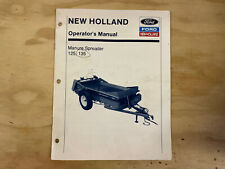 New Holland Manure Spreader 125 135 Operators Manual