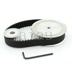 HTD 5M CNC Machine 40 20 Tooth Timing Pulley Belt Set Kit Reducer Ratio 2:1 NEW