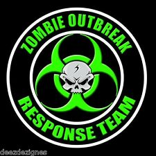 "ZOMBIE OUTBREAK RESPONSE TEAM 2-PACK  4"" Apocalypse Hunter Biohazard Sticker 11"