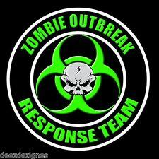 "ZOMBIE RESPONSE TEAM 4-PACK w/skull 2""  Apocalypse Hunter Biohazard Sticker 11"