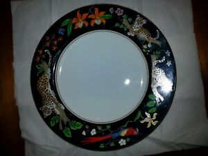 """Lynn Chase Jaguar Jungle 12"""" Service Dinner Plate Charger Excellent Condition"""