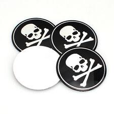 4x 56mm Vehicle Car Wheel Emblem Hub Center Caps Cross Bone Skull Logo Sticker