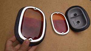 VW tail lights T2 TYPE 2 BUS 62-71 LIGHT COMPLETE ASSEMBLY AMBER LENS 2pcs PAIR