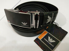 A26 BLACK LEATHER MAN BELT 52''  AOTUMATIC BUCKLE SHIPPING WITH TRACKING NUMBER