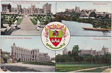 Old postcard of views of Windsor Castle