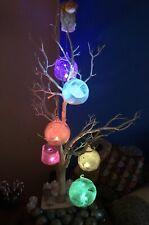 Valentine Gift Colour Changing Tea Light Glass Glitter Sphere,mood Enhancing