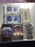 7 METALLICA CASSETTE TAPES (SOME VERY RARE) (OZ AUSSIE SELLER) LIKE NEW