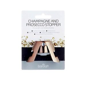 BARCRAFT Champagne/Perry/Sparkling Wine Bottle Stopper Copper. Keep the Fizz in!