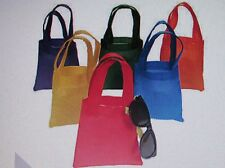 *CLEARANCE* 12 Colored Fabric TOTE BAGS party supplies party favor bags