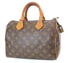 Authentic LOUIS VUITTON Speedy 25 Monogram Boston Handbag Purse #37455