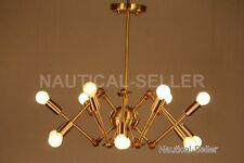 Mid century style Modern Brass 12 Swivel Arms Sputnik Chandelier Light Fixture