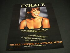 Whitney Houston The #1 Female Artist Of Our Time Inhale 1995 Promo Poster Ad