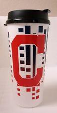 CLEVELAND INDIANS MUG MLB 32OZ SINGLE WALL PLASTIC TRAVEL TUMBLER CUP WITH LID