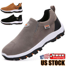 Men's Athletic Shoes Sneakers Casual Breathable Slip on Running Walking Loafers