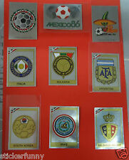 PANINI MEXICO 86  WM 1986 world cup BADGES wappen pick choose 1 from the list