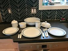 Dansk Christianshaven Dinnerware:10 place settings of 4 pieces & serving pieces