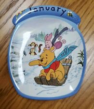 """Colletibles Disney Winnie The Pooh The Whole Year Through""""January"""" ;Plate Bradford"""