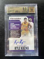 2017-18 Chronicles Kyle Kuzma Rookie Auto /149 Lakers BGS 9.5/10 GEM subgrades