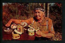 Native Americana postcard Chippewa & Ottawa Indian arts & crafts