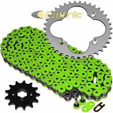 Green O-Ring Drive Chain & Sprocket Kit Fits HONDA ATC250R 1986 / TRX250R 86 87