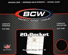 30 BCW 20 Pocket Pages for Cardboard Coin Holders or Slides - Binder Sheets