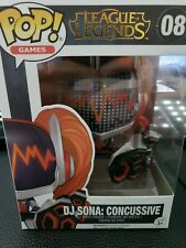 DJ SONA: CONCUSSIVE FUNKO POP MINT CONDITION RIOT GAMES EXCLUSIVE VAULTED