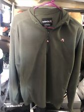 mens avalanche Fleece Olive Green Size Large 1/4 zip