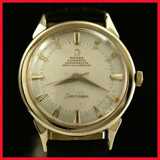 RARE VINTAGE OMEGA 9082 SEAMASTER CHRONOMETER, 14K SOLID GOLD AUTO MENS WATCH